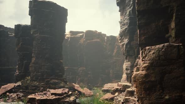 Colorado River Cuts Through Rock at Grand Canyon