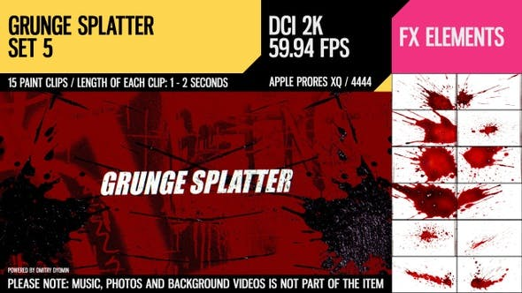 Thumbnail for Grunge Splatter (2K Set 5)