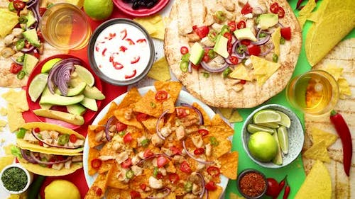 Various Freshly Made Mexican Foods Assortment