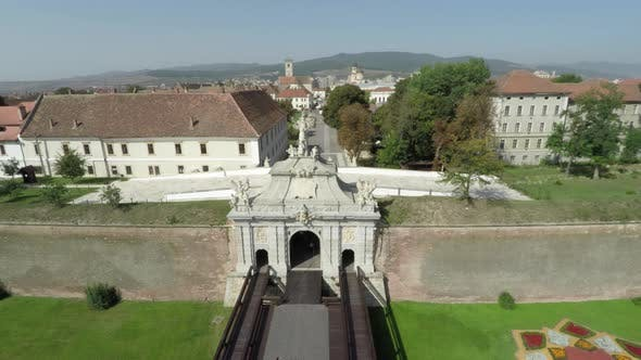 Aerial view of Alba Iulia citadel