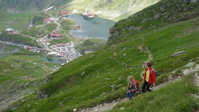 Children Hiking At The Mountains 6