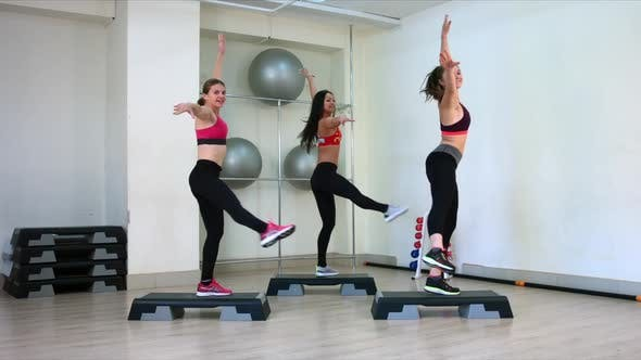 Thumbnail for Young Girls Perform Aerobics