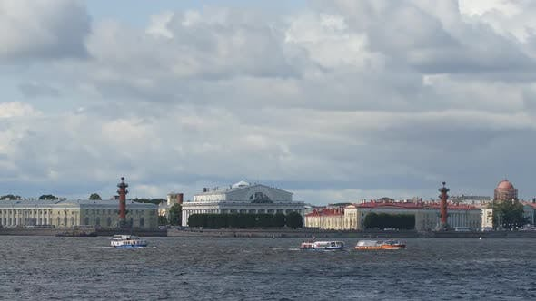 Thumbnail for Time-lapse of The Spit of Vasilievsky Island - St. Petersburg, Russia