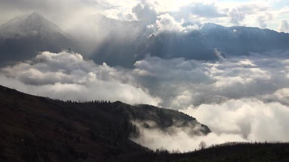 Thumbnail for High Terrestrial Mountains and Valleys Above the Clouds