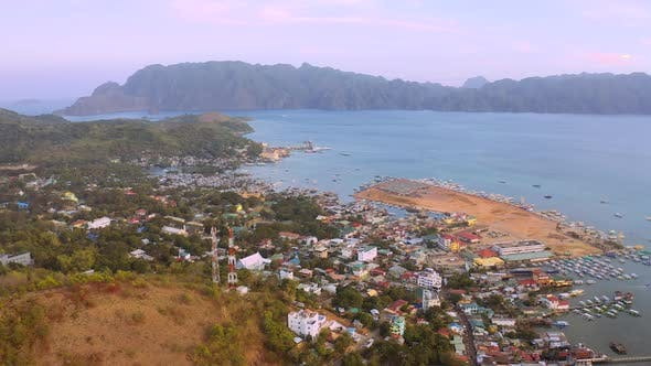 Thumbnail for Aerial View Coron City with Slums and Poor District, Palawan, Philippines