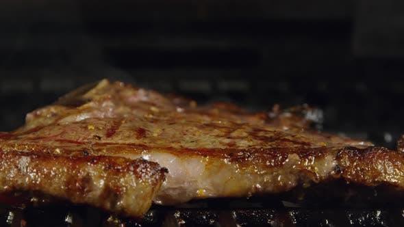 Juicy T-Bone Steak With Grill Marks 43