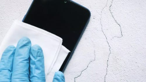 Cleaning Mobile Phone Display for Preventing Virus