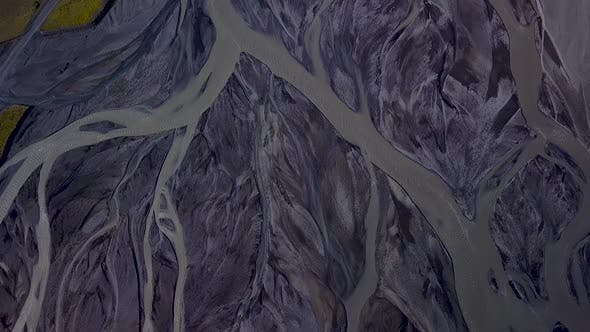 Thumbnail for Aerial View of Glacier River in Iceland