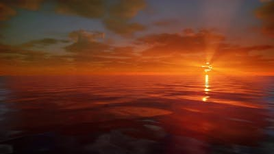 Ocean Sunrise Looped 4K