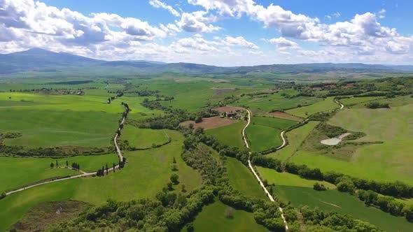 Thumbnail for Tuscany Aerial Landscape Farmland Italy