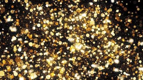 Golden Christmas Glitters Hd