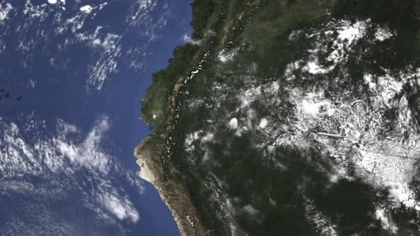Route eines Kommerziell zeugs, das nach Guayaquil fliegt