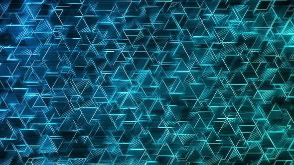 Thumbnail for Blue Triangles Abstract Background