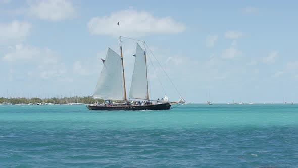 Thumbnail for Tourist boat sailing on the ocean