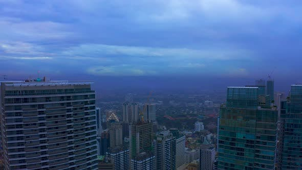Cover Image for Makati City Skyline and Modern Buildings Business District of Metro Manila, Philippines. Aerial