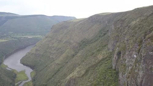 Drone Aerial Andes Mountains Ecuador Condor Nesting Habitat Ledges Cliff Ledges