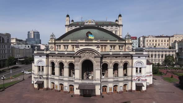 Thumbnail for Ukraine: National Opera of Ukraine. Aerial View