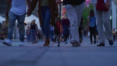 People Walking on A Pedestrian Street