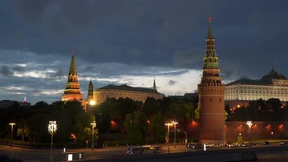 Thumbnail for Türme des Moskauer Kreml bei Nacht Moskau