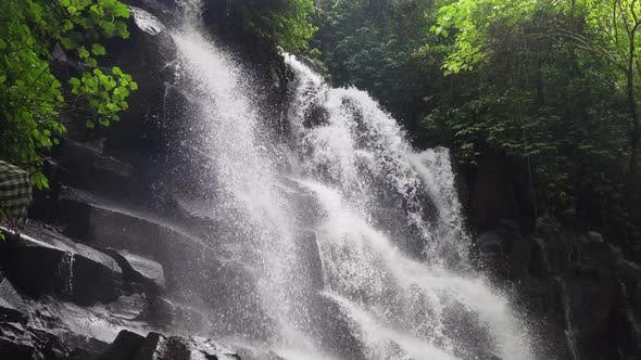 Thumbnail for Beautiful Tropical Waterfall. Bali,Indonesia