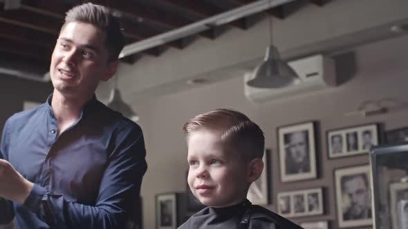 Thumbnail for Kid Enjoying New Hairstyle