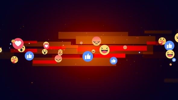 Facebook Reaction Emoji Background V3