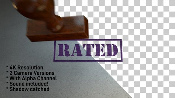 Thumbnail for Rated Stamp 4K - 2 Pack