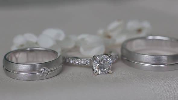 Thumbnail for Beautiful Wedding Rings for a Wedding. Expensive and Elegant Gift for the Wife To Make an Offer of