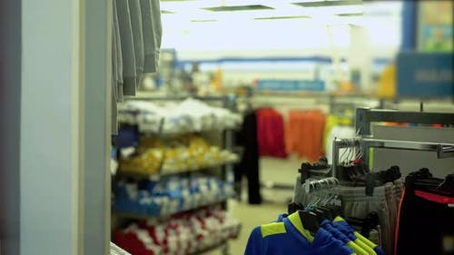 Department of Clothes in the Supermarket