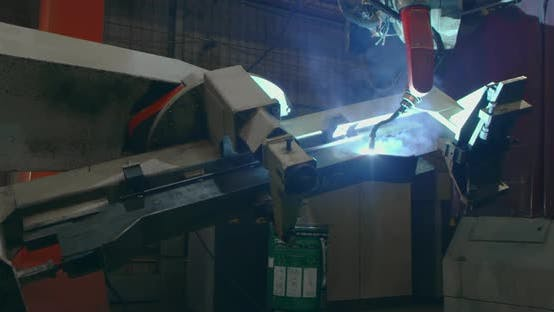 Machine Welding at the Plant