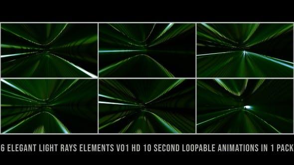 Thumbnail for Elegant Light Rays Elements Green V01