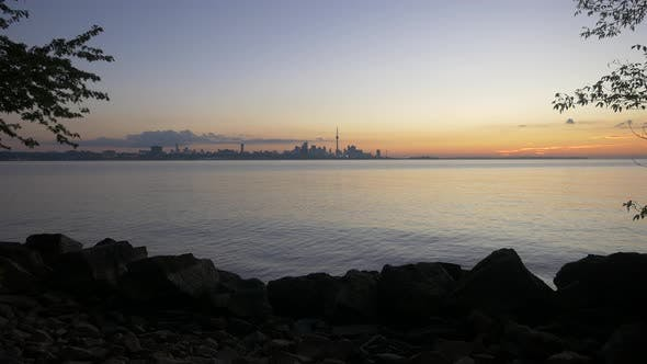 Thumbnail for Lake Ontario and the city of Toronto at sunrise