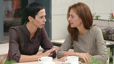 Conversation of Women in the Cafe
