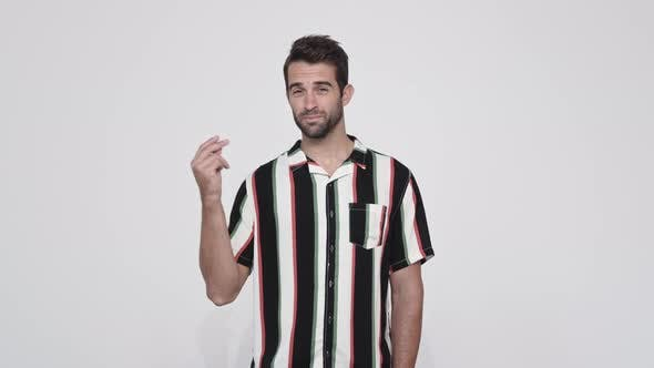 Thumbnail for Striped Shirt Guy Gesturing
