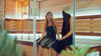Young and Beautiful Girls in the Sauna