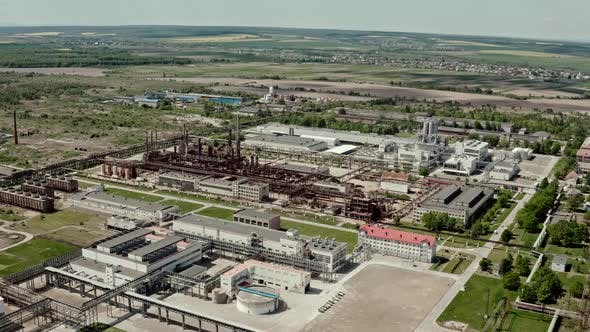 Thumbnail for Aerial Wide View Ove r Oil Refinery or Chemical Factory. Industrial Zone V2