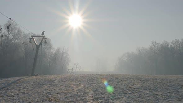 Thumbnail for Eastern Serbian Kraljevica hill ski slopes and early morning   sun 4K 2160p UHD footage - Ski slopes