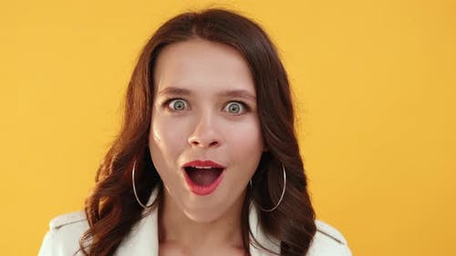 Wow Face Special Offer Impressed Shocked Woman