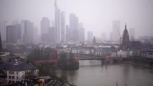 Thumbnail for Frankfurt Germany Maine River And Business Towers In Snowy Day 3