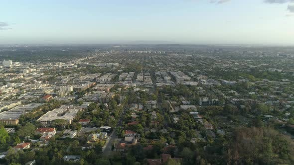 Aerial view of Hollywood