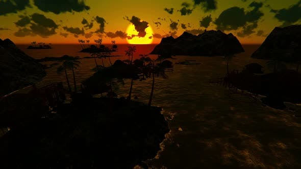 Thumbnail for Tropical Paradise At Sunset 2k 2