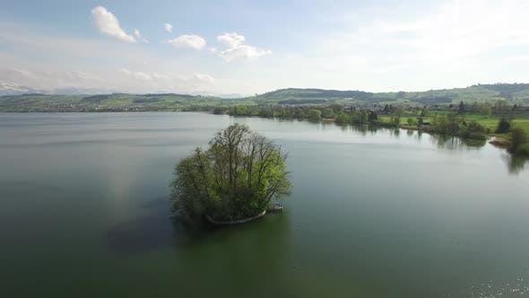 Thumbnail for Green Tree Island in Lake Nature Resort Environment