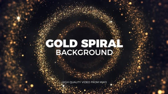Thumbnail for Gold Spiral Background