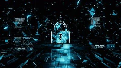 Padlock Of Cyber Security 01125