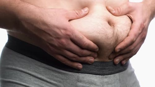 Fat Belly eines Mannes