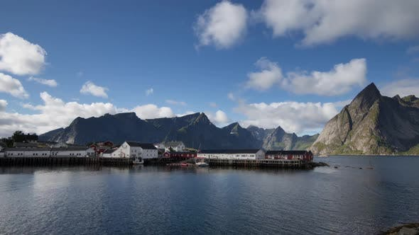 Thumbnail for lofoten fishing  village ocean timelapse wild environment nature