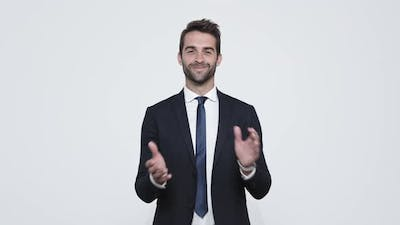 Clapping Businessman