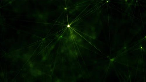 Artificial Nervous System Concept With Plexus Axons And Vessels Of Light And Evolving Shape.