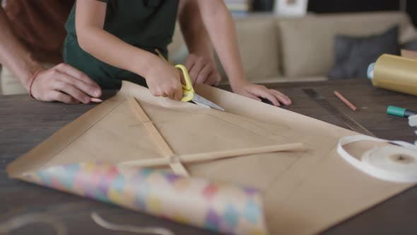 Thumbnail for Cutting Craft Paper For Handmade Kite