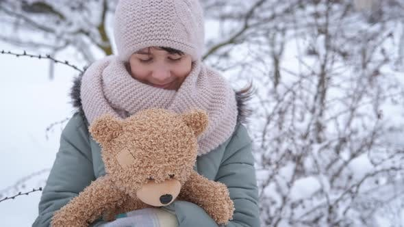 Winter with Plush Toy